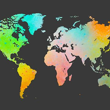 Spray Paint World Map by Map-Your-World