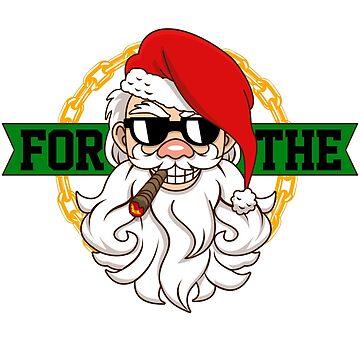 Santa I Do It For The Ho's - Funny Christmas T-Shirt Gift by antifeminismau