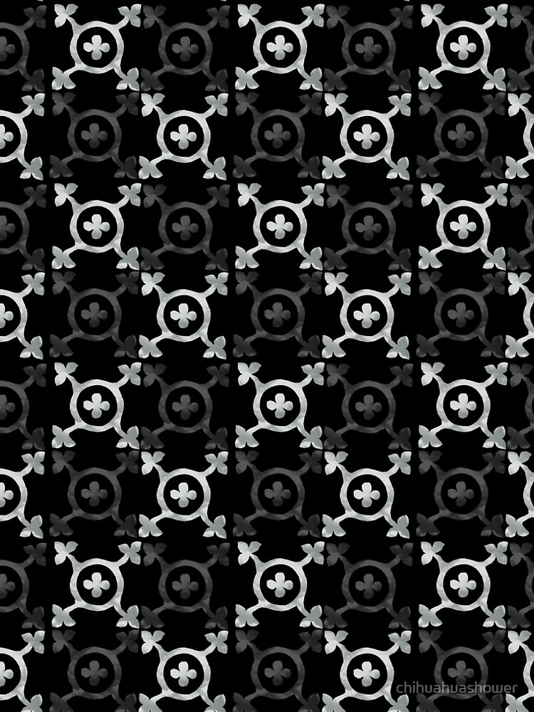 monochrome geometric pattern by chihuahuashower