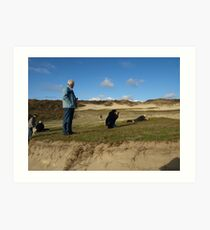Photoshoot, Renesse, Zeeland Holland Art Print