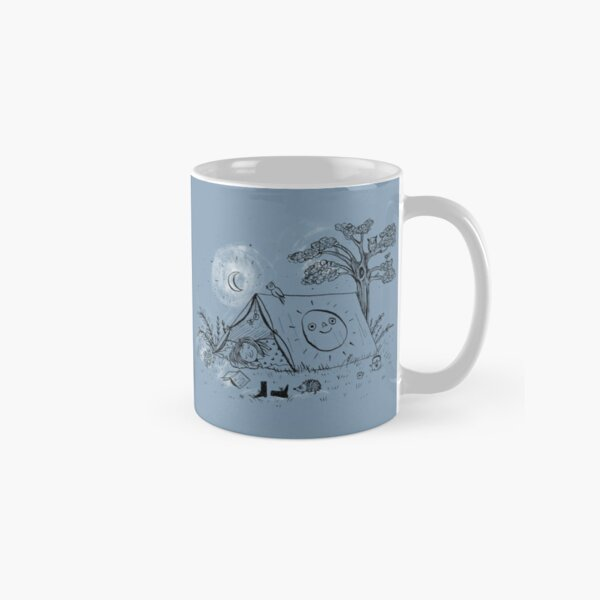 Camping in nature ink illustration Classic Mug