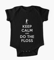 FLOSS TANZ   Behalten Sie Ruhe und tun Sie das Floss Art Gift Baby Body Kurzarm