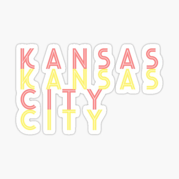 Kansas City stacked gold and red Sticker