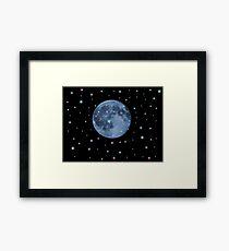 Snow moon Framed Print