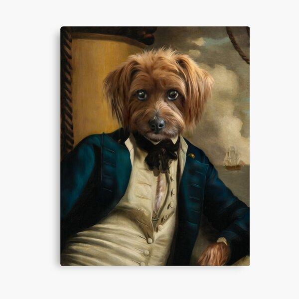 Dog Portrait - Franklin Canvas Print