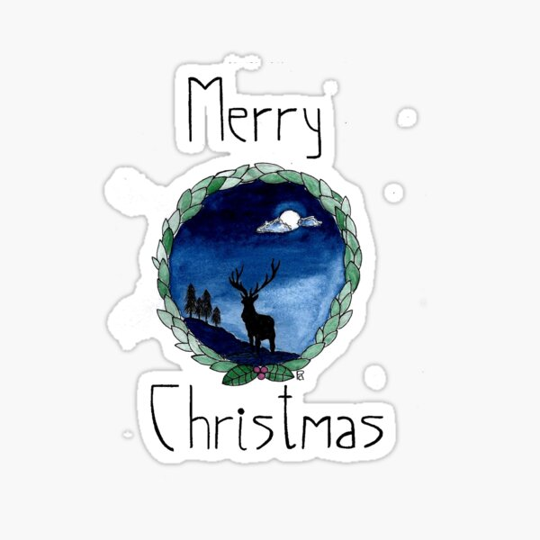 A Winter Night Sticker