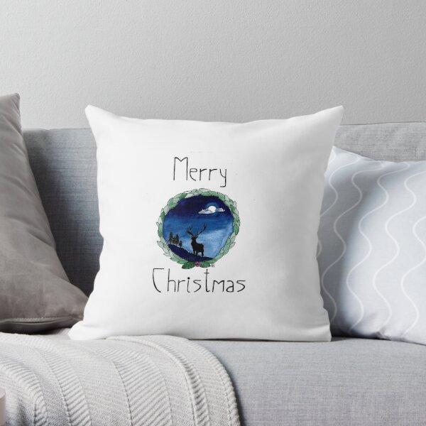 A Winter Night Throw Pillow
