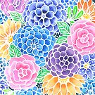 Masked Flora Collection Bloom by christinemay