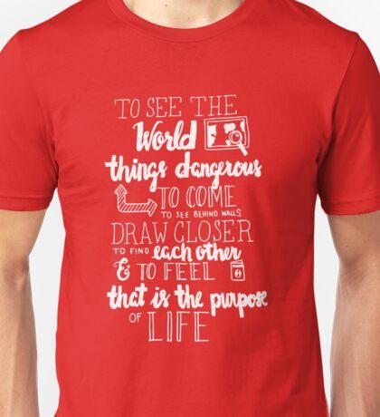 Walter Mitty Life Motto - White Unisex T-Shirt