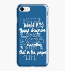 Walter Mitty Life Motto - White iPhone Case/Skin