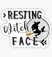resting witch face Sticker