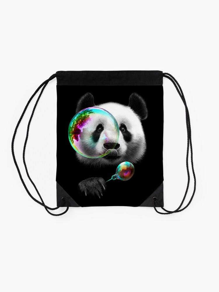 Alternate view of PANDA BUBBLEMAKER Drawstring Bag