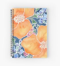 Masked Flora Collection Poppies Spiral Notebook