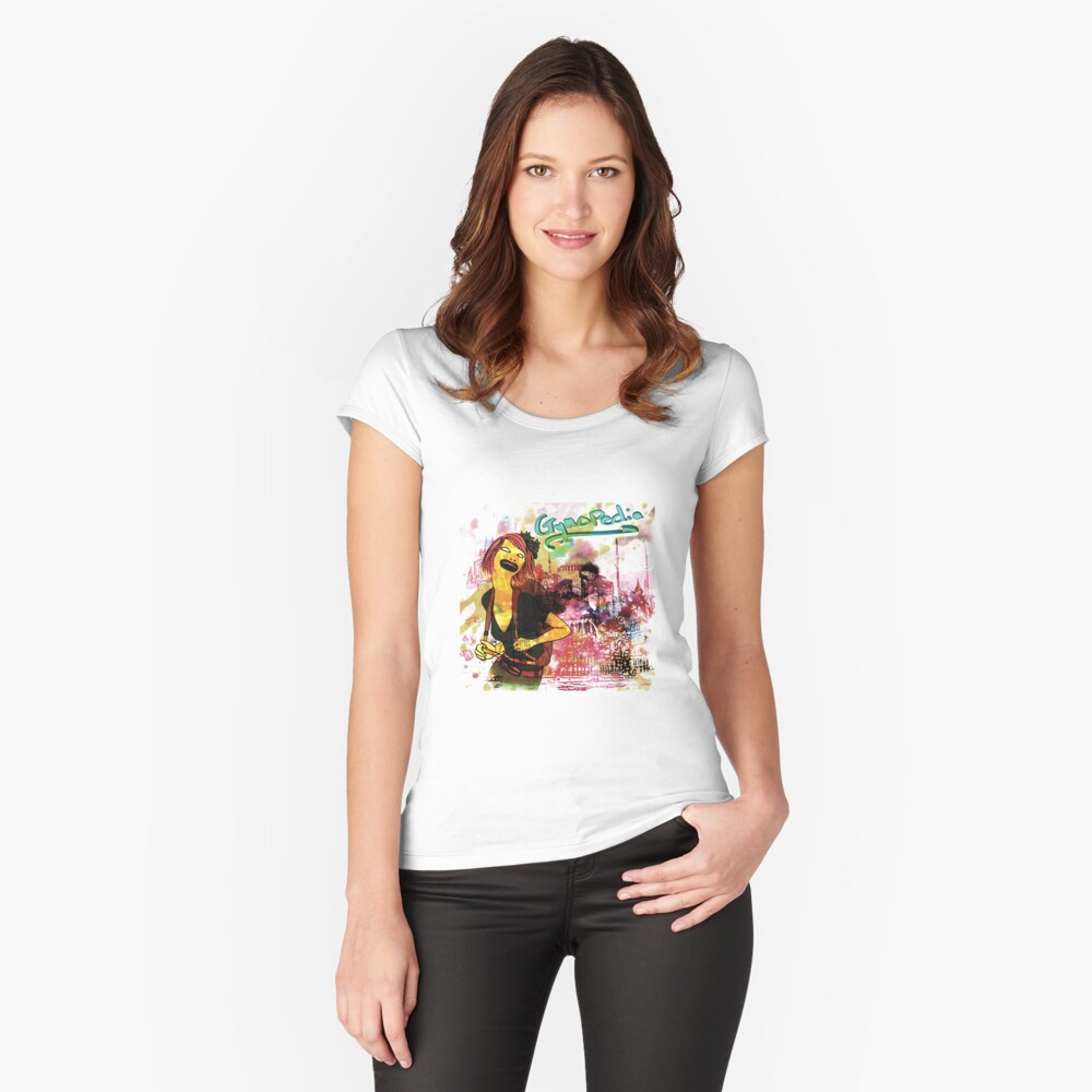 Female Solo Traveler Fitted Scoop T-Shirt