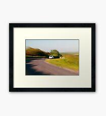 Driving fast Framed Print