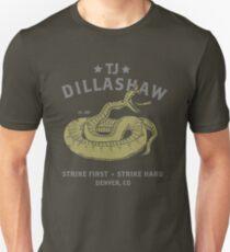 TJ Dillashaw Snake Strike First Strike Hard Merch Unisex T-Shirt