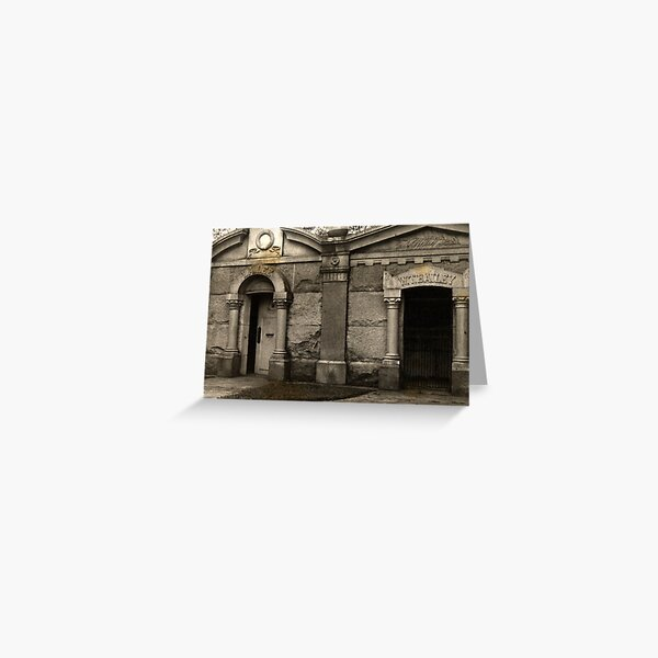 Mausoleums in Harleigh Cemetery in Camden New Jersey Greeting Card