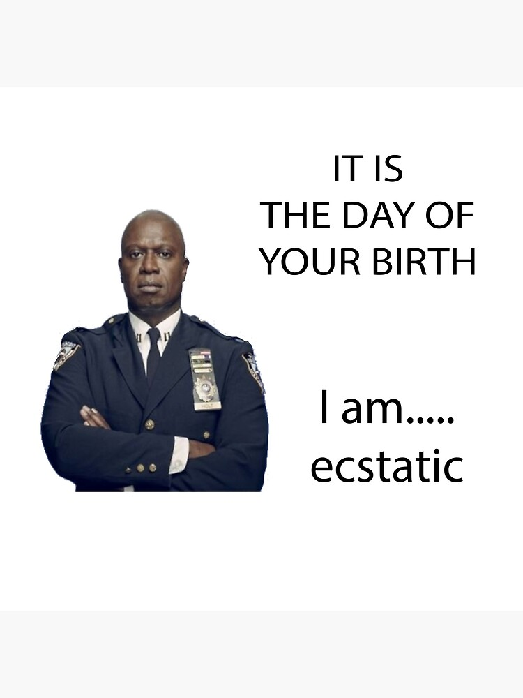 Captain Holt Birthday Card Brooklyn 99 B99 Funny Greeting Card Raymond Holt
