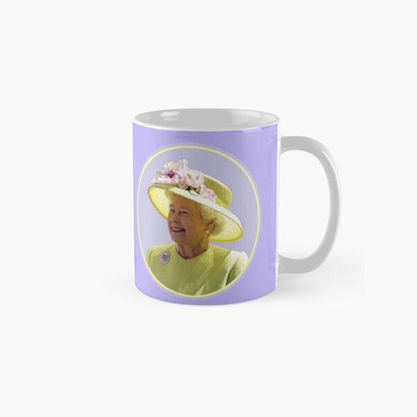HRH Queen Elizabeth II in Yellow Classic Mug