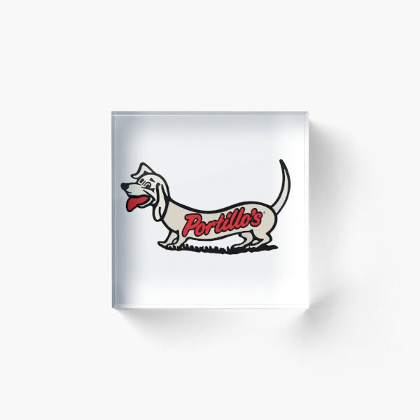 Portillo's Hot Dog  Acrylic Block