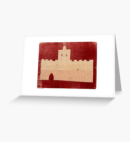 marrakech castle Greeting Card
