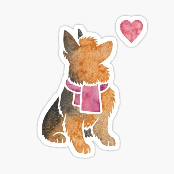 Watercolour Australian Terrier Sticker