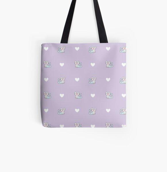 Sweet, Sweet Merdoggo Purple Love All Over Print Tote Bag