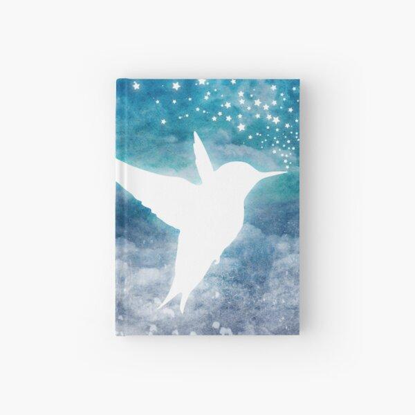 Magical, Cosmic, Whimsical Spirit Hummingbird Drinking Stars Hardcover Journal