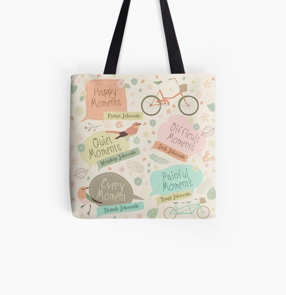 EVERY MOMENT THANK JEHOVAH All Over Print Tote Bag