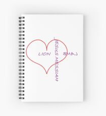 Lion and the Lamb (purple) Spiral Notebook