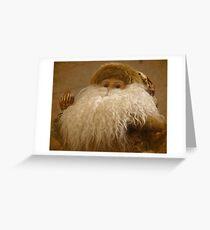 Textured Santa Greeting Card