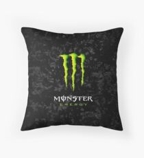 Energy Monster  Throw Pillow