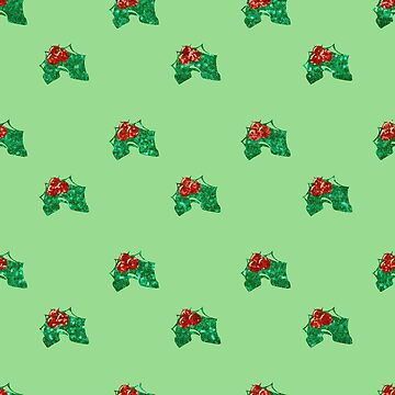 sequin christmas Holly by gossiprag