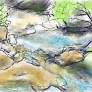 Water and Rocks by Janette  Leeds