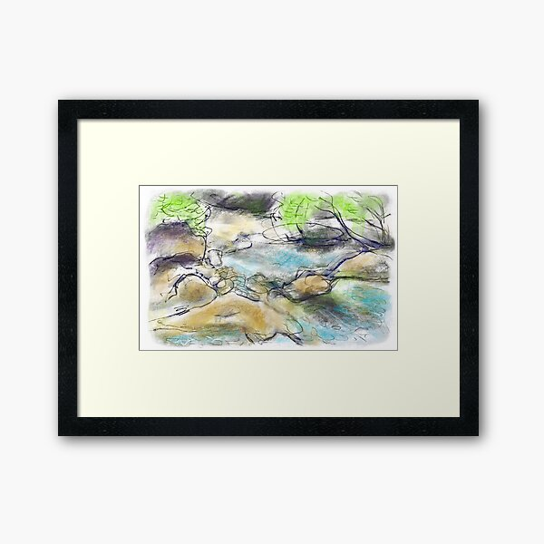 Water and Rocks Framed Art Print