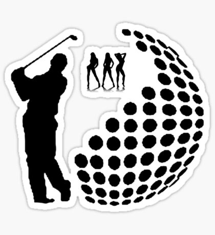 the golfer Sticker