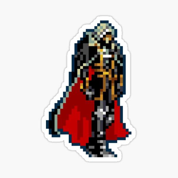 Alucard Black & Red Cape Classic 32-bit Retro Sticker