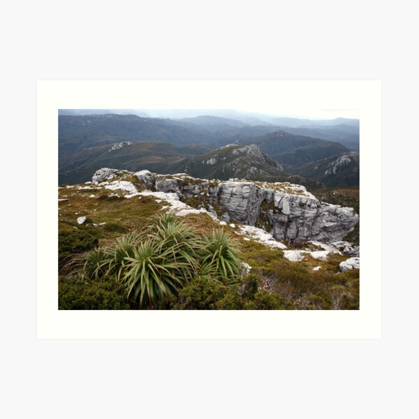 View from Frenchmans Cap, Franklin-Gordon Wild Rivers National Park, Tasmania Art Print