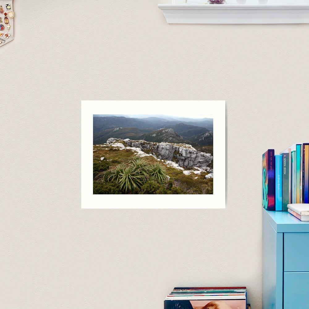 View from Frenchmans Cap, Franklin-Gordon Wild Rivers National Park, Tasmania Art Print