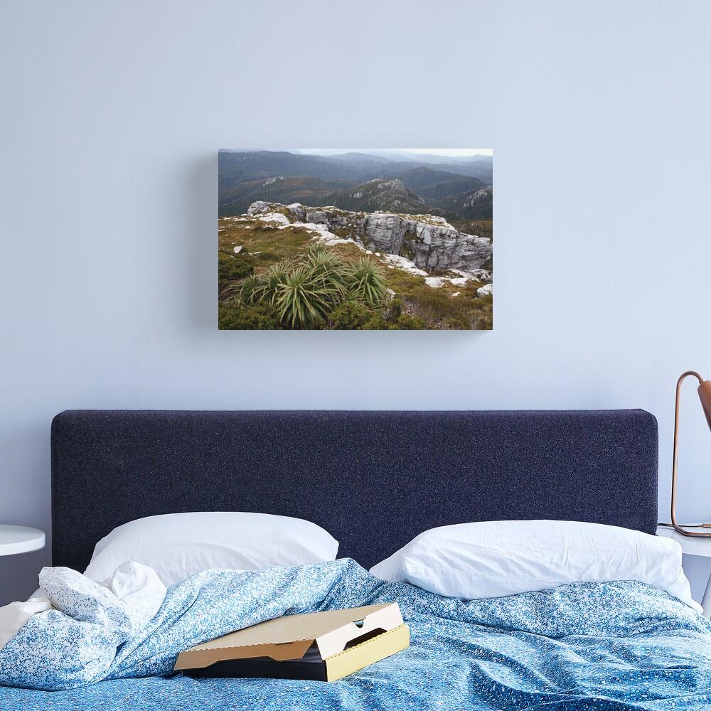 View from Frenchmans Cap, Franklin-Gordon Wild Rivers National Park, Tasmania Canvas Print