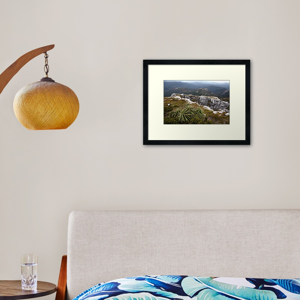 View from Frenchmans Cap, Franklin-Gordon Wild Rivers National Park, Tasmania Framed Art Print