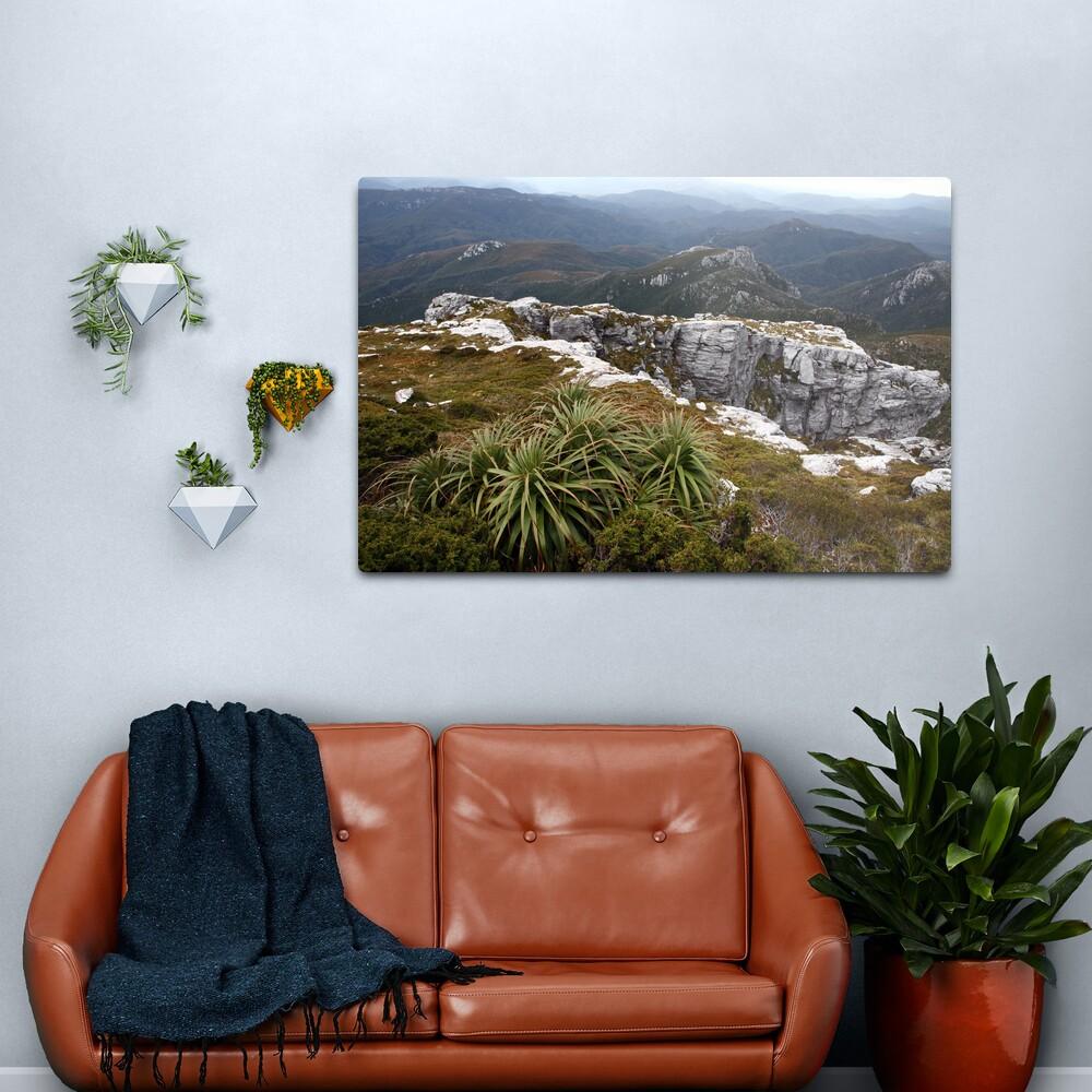 View from Frenchmans Cap, Franklin-Gordon Wild Rivers National Park, Tasmania Metal Print