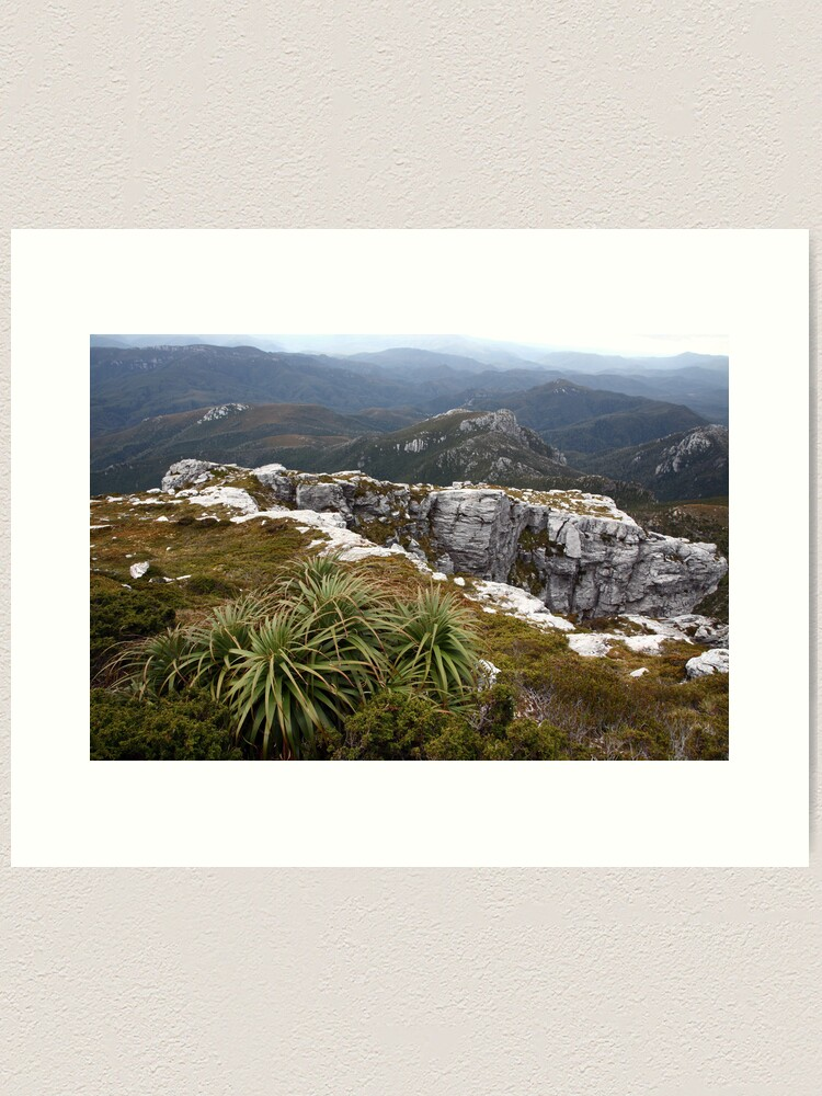 Alternate view of View from Frenchmans Cap, Franklin-Gordon Wild Rivers National Park, Tasmania Art Print