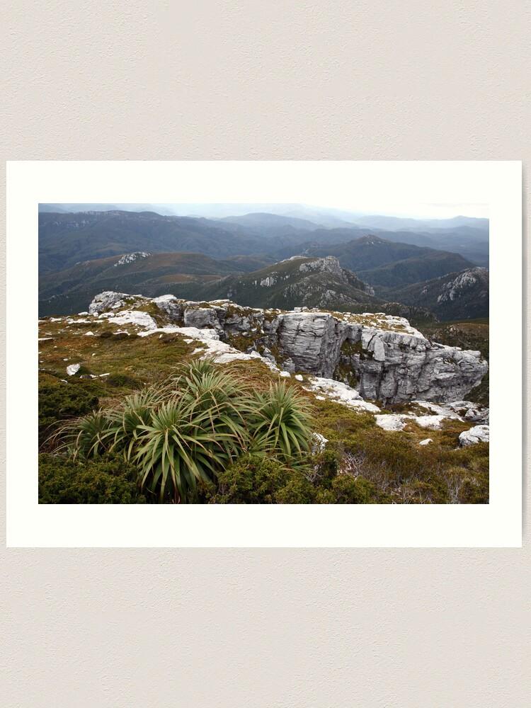 Alternate view of View from Frenchmans Cap, Franklin-Gordon Wild Rivers National Park, Tasmania Art Print