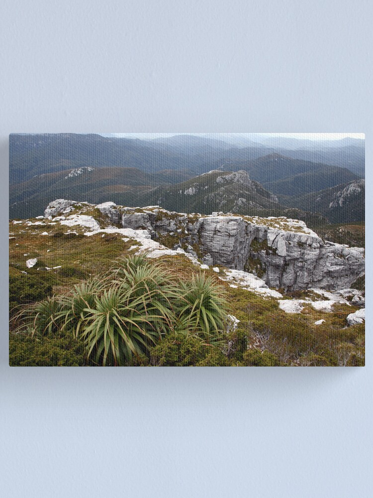 Alternate view of View from Frenchmans Cap, Franklin-Gordon Wild Rivers National Park, Tasmania Canvas Print