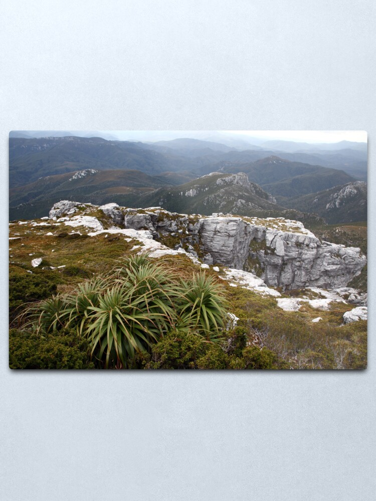 Alternate view of View from Frenchmans Cap, Franklin-Gordon Wild Rivers National Park, Tasmania Metal Print