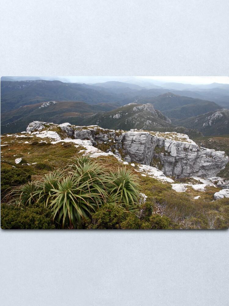 Alternate view of View from Frenchmans Cap, Franklin-Gordon Wild Rivers National Park, Tasmania Metal Print