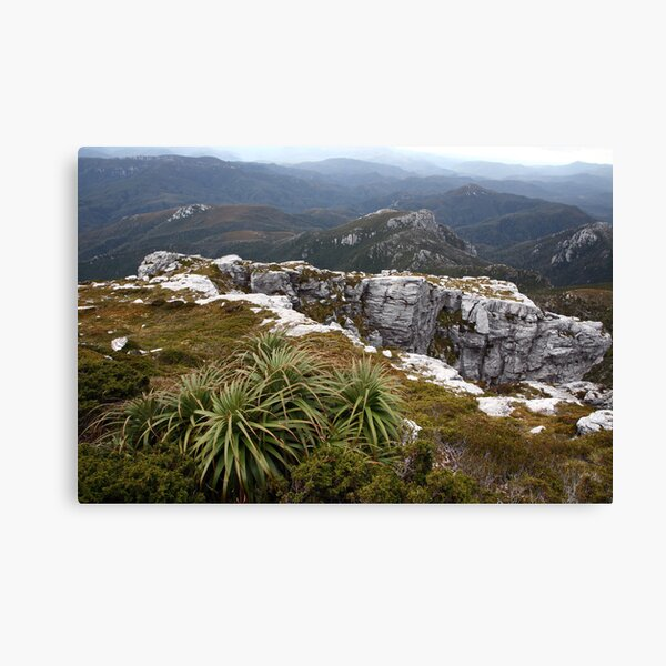 View from Frenchmans Cap, Franklin-Gordon Wild Rivers National Park, Tasmania Canvas Print