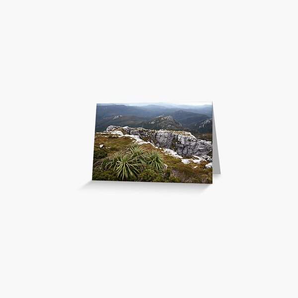 View from Frenchmans Cap, Franklin-Gordon Wild Rivers National Park, Tasmania Greeting Card