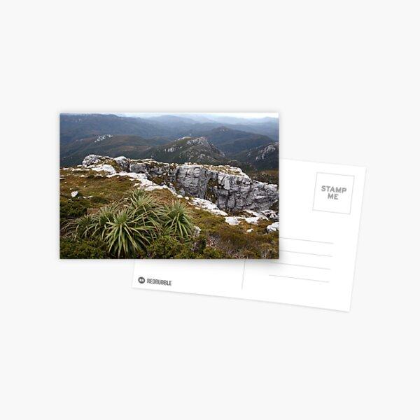View from Frenchmans Cap, Franklin-Gordon Wild Rivers National Park, Tasmania Postcard